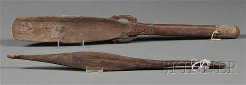 142 Two Carved Wood Ethnographic Items a carved wood