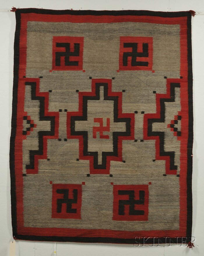 509: Southwest Weaving, Navajo, c. 1900, with two-color
