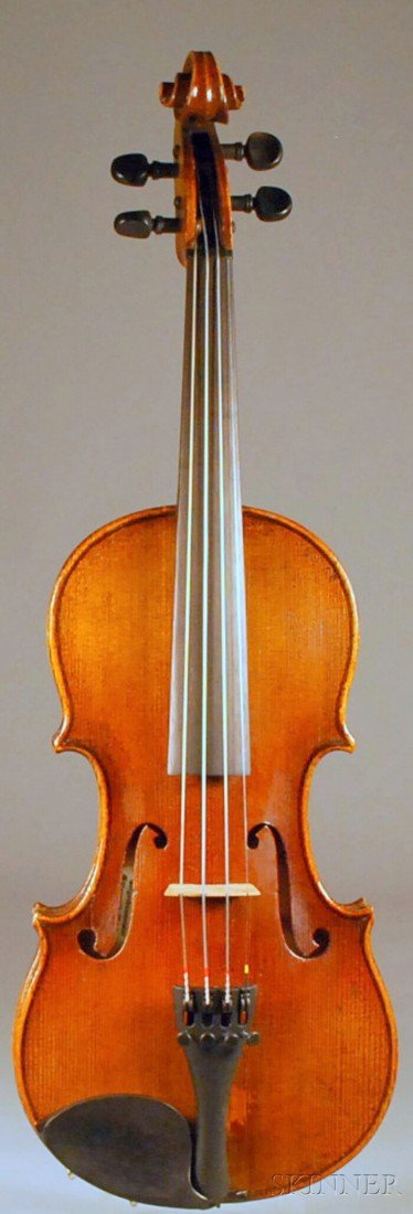 2: Child's German Violin, length of back 317 mm, with c