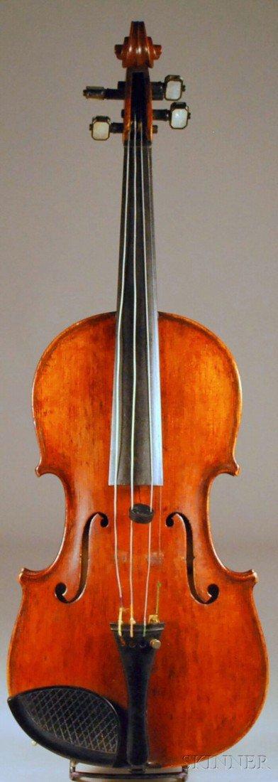 3: Modern Violin, c. 1920, labeled ANTONIUS STRADIVARIU