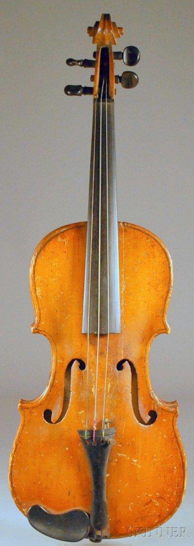 4: Saxon Violin, c. 1800, labeled ANTONIO???..., length