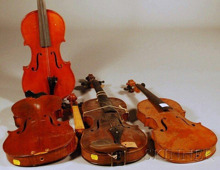 6: Four Restorable Violins.