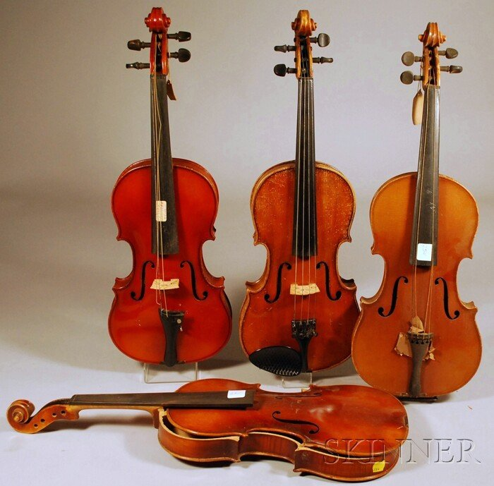 7: Four Modern German Violins, c. 1950.
