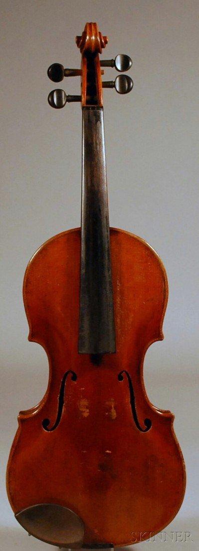 14: Czech Violin, c. 1930, labeled ..GOTTFRIED TECHLER.
