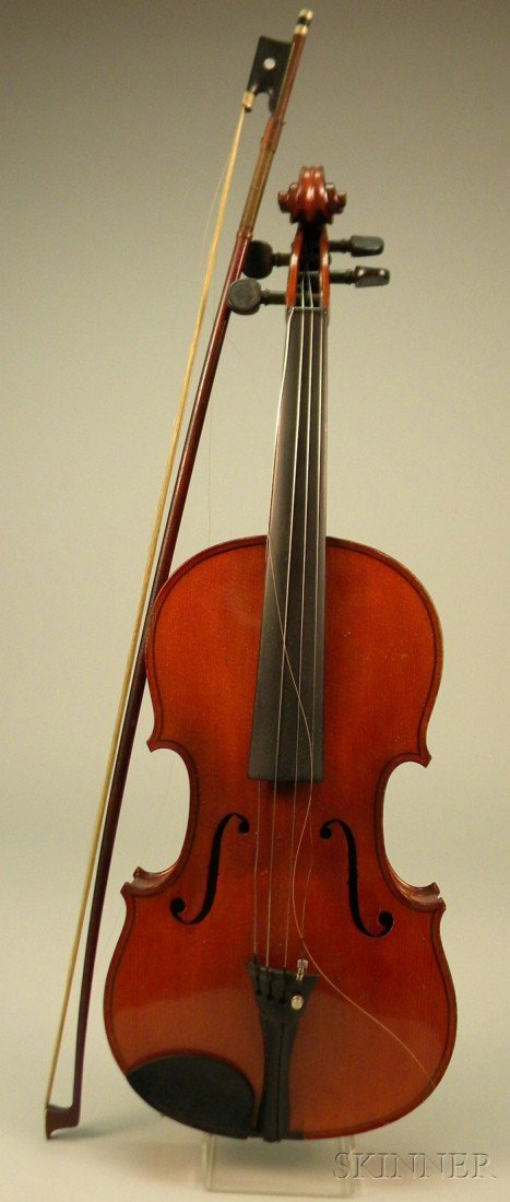 20: German Violin, c. 1920, length of back 360 mm, with