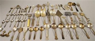 284A Large Group of Silverplated Flatware and Serving