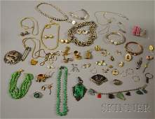 438 Group of Assorted Silver and Costume Jewelry incl