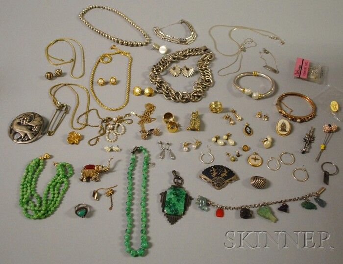 Group of Assorted Silver and Costume Jewelry, incl