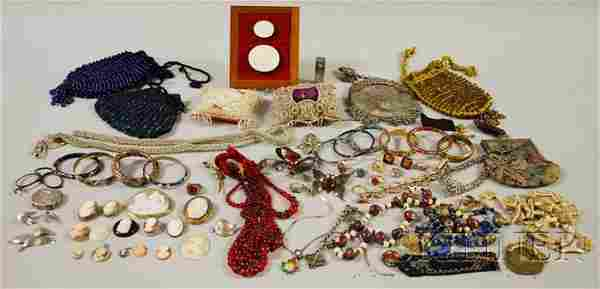 Group of Mostly Victorian Costume Jewelry and Acce