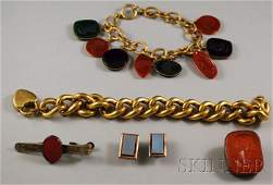 488: Small Group of Mostly Hardstone Jewelry, including