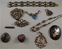 540: Small Group of Mostly Asian Silver Jewelry, includ