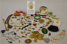 566A Lot of Miscellaneous Costume Jewelry and Articles