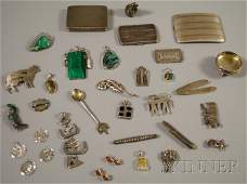 609: Group of Mostly Sterling Silver Jewelry and Access