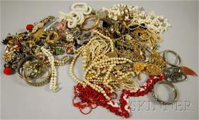 687: Large Group of Mostly Costume Jewelry, including s