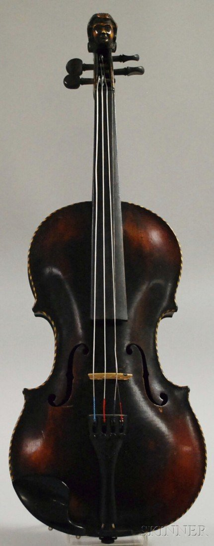 4A: German Violin, c. 1880,  labeled ...STAINER..., len