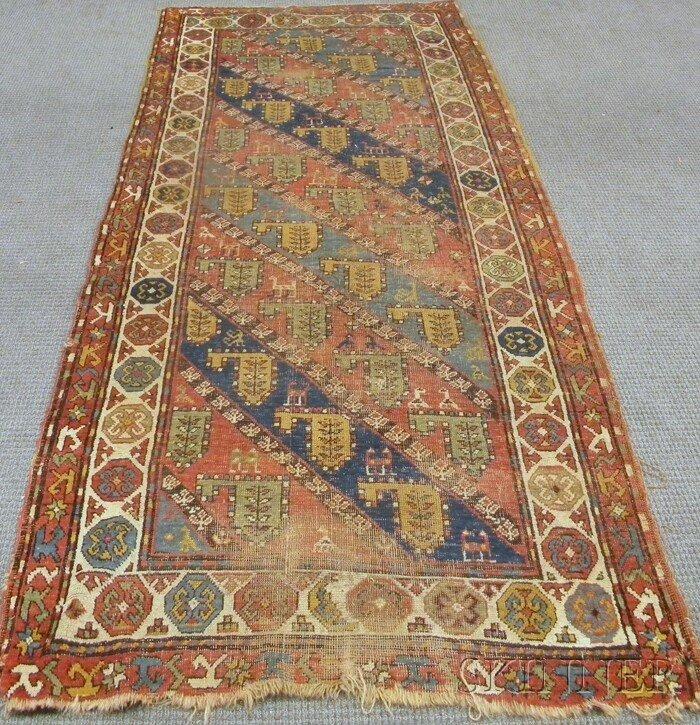 703: South Caucasian Long Rug, 19th century, 9 ft. x 3