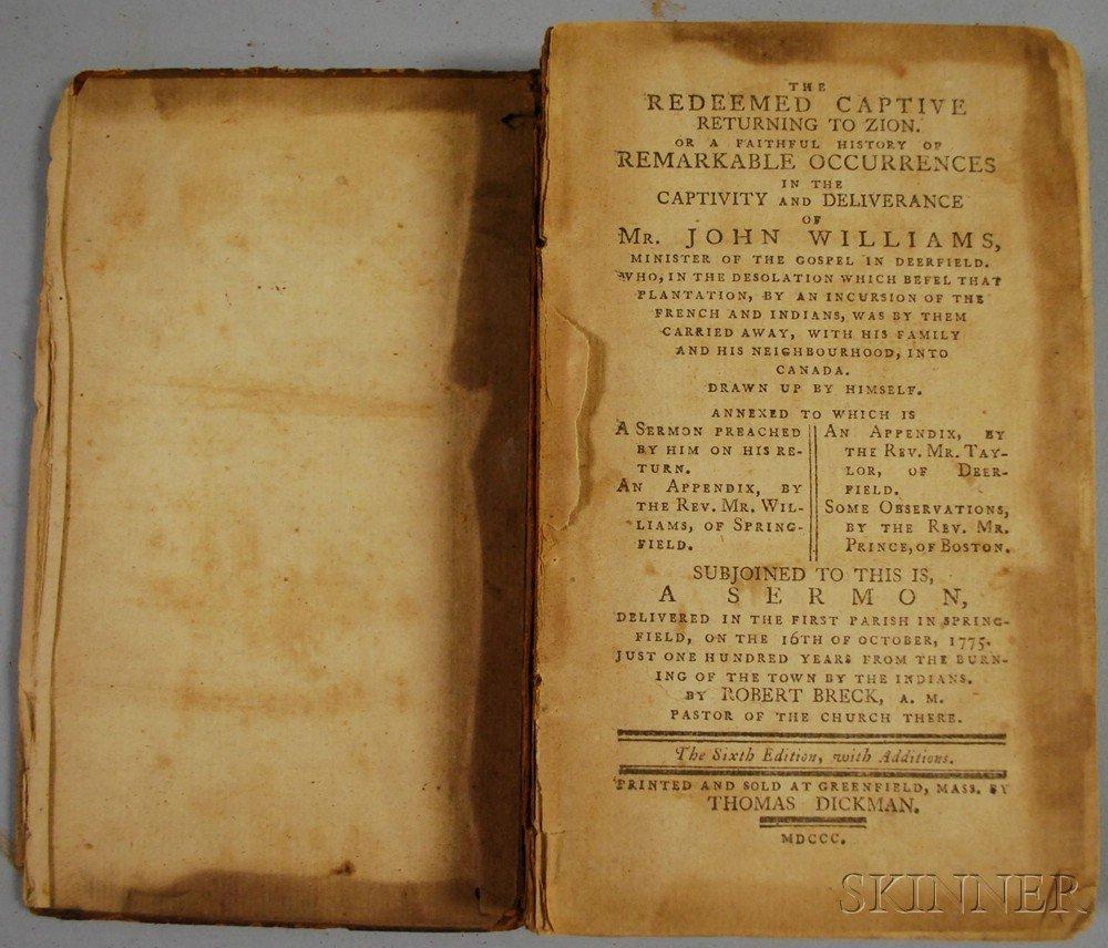 717C: Williams, John (1664-1729), The Redeemed Captive,