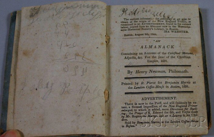717D: The New England Primer, Improved, 1844.