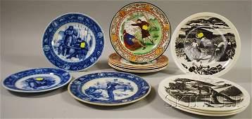 877 Twelve Assorted Wedgwood Ceramic Plates including