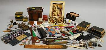 1108 Lot of Miscellaneous Desk Items Collectibles an