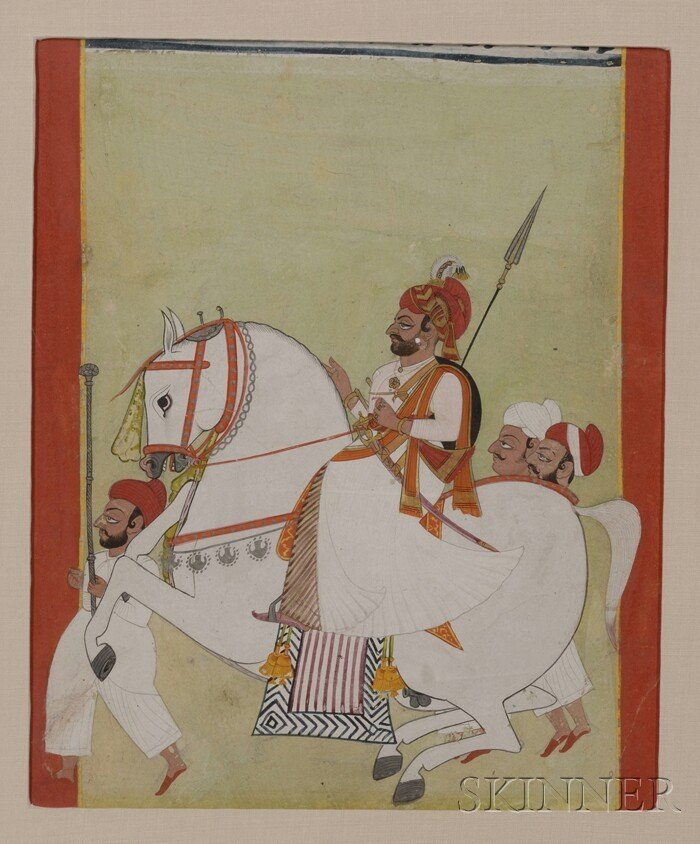 5: Two Indian Miniature Paintings, 18th century, one of