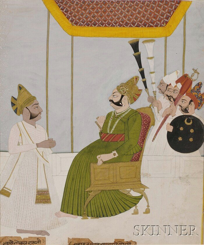 5A: Indian Miniature Painting, 18th/19th century, scene