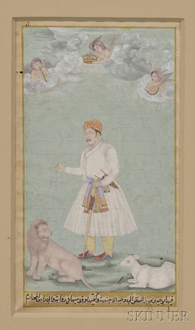 5B: Mughal Miniature, 17th century, ink and colors on p