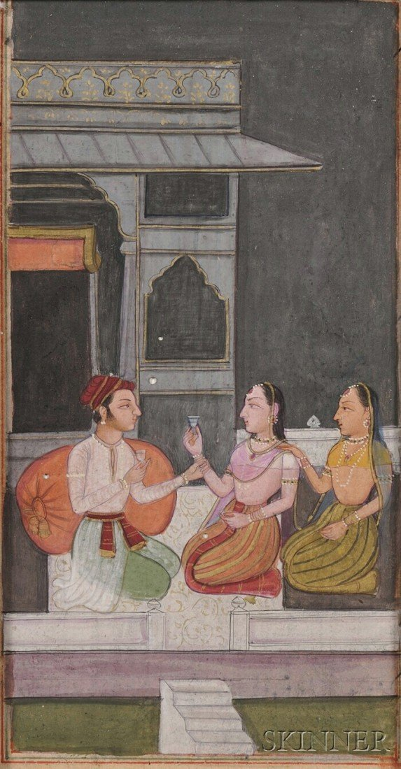 8: Miniature Painting, India, 19th century, ink, colors