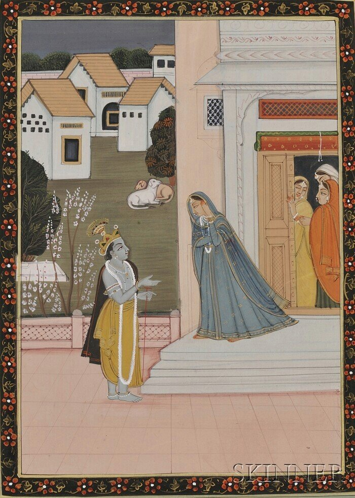9: Miniature Painting, India, 20th century, ink and col