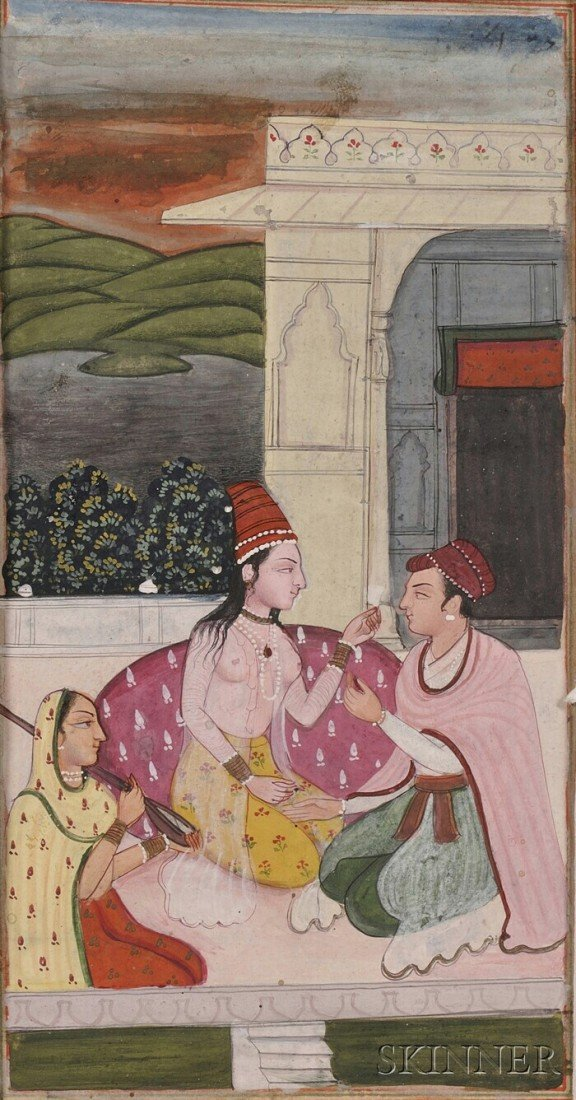 10: Miniature Painting, India, 19th century, ink and co