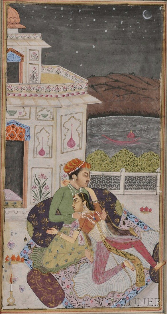 11: Miniature Painting, India, 19th century, ink and co