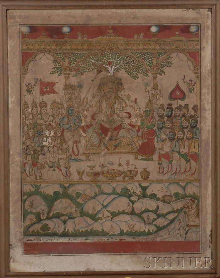 17: Votive Painting, India, 19th/early 20th century, in