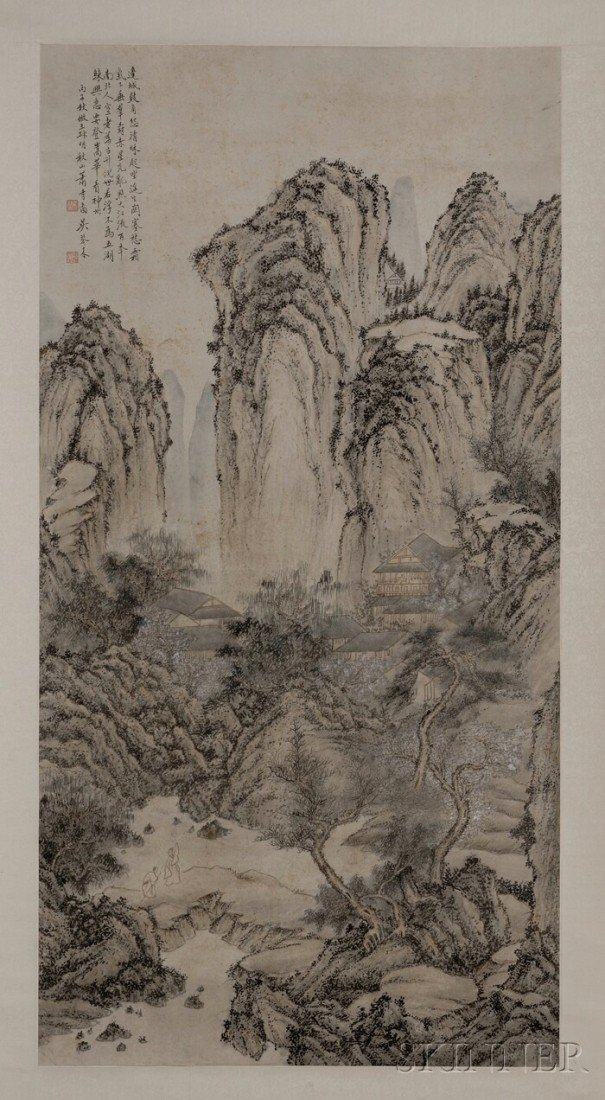 433: Hanging Scroll, China, ink and colors on paper, de
