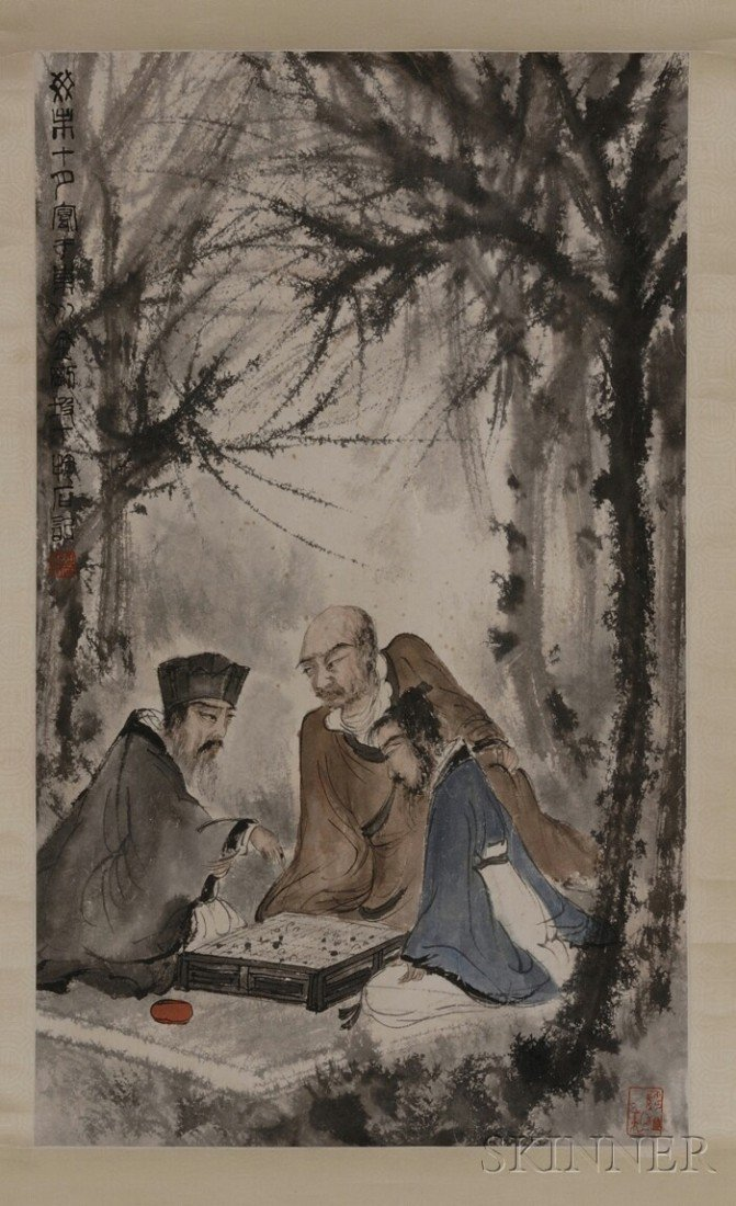 434: Hanging Scroll, China, ink and colors on paper, de
