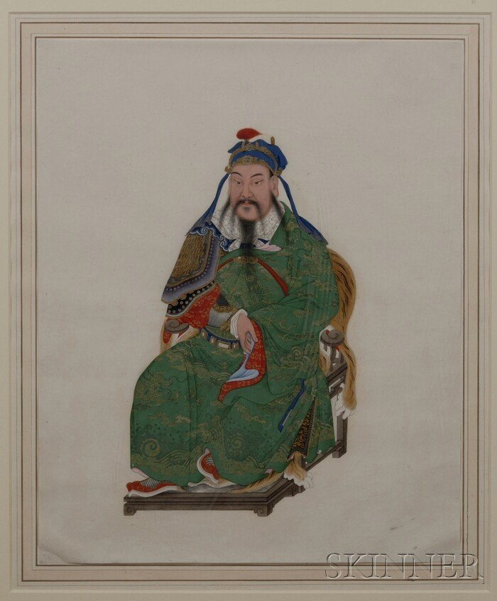 435: Painting of a Military Official, China, 18th/early