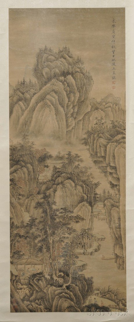 445: Hanging Scroll, China, ink and colors on paper, de