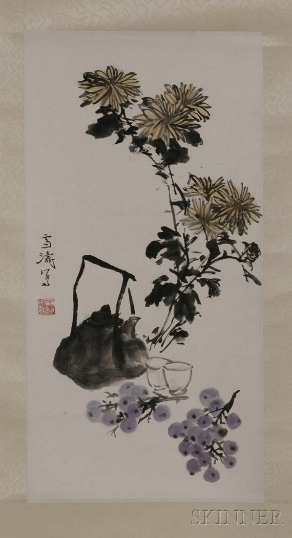 451: Hanging Scroll, China, ink and light colors on pap