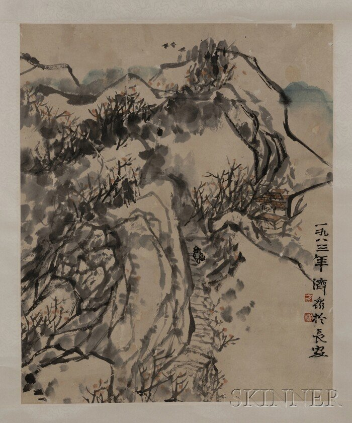 452: Hanging Scroll, China, ink and light colors on pap