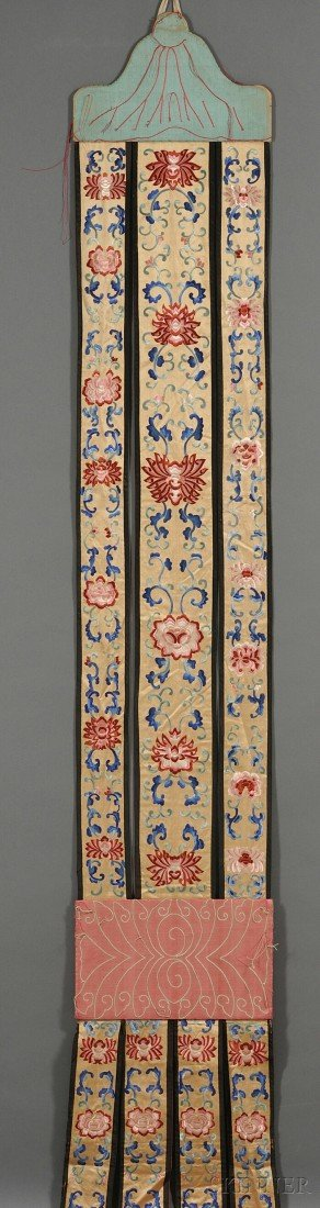 453: Buddhist Silk Hanging, China, late 19th/early 20th
