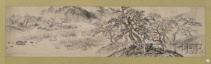 456: Handscroll, China, 19th century, ink and colors on