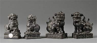 987 Two Pairs of Foo Dogs China late 19th century b