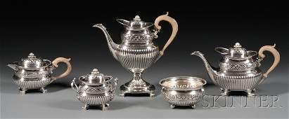 83 Fourpiece Portuguese Silver Tea and Coffee Service