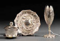 226: Three Chinese Export Silver Tablewares, 20th centu