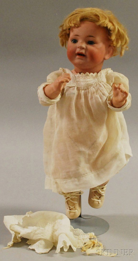 1: Kestner 211 Bisque Head Baby Doll, original wig, com