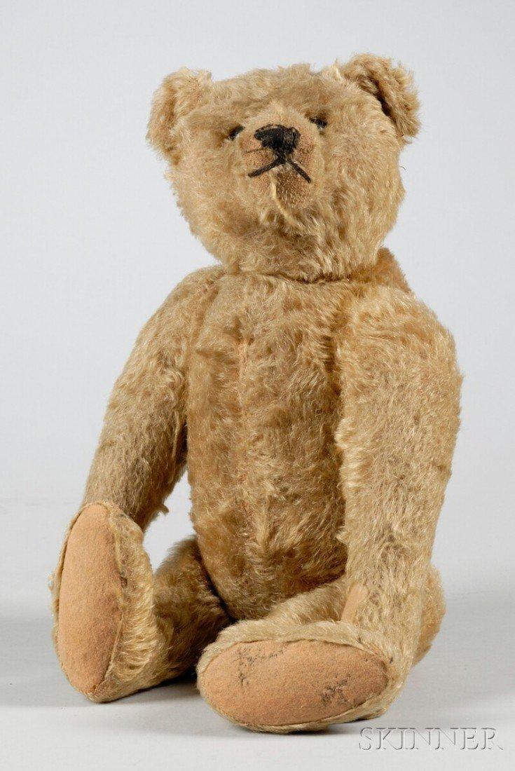 5: Steiff Articulated Blond Mohair Teddy Bear, fully jo