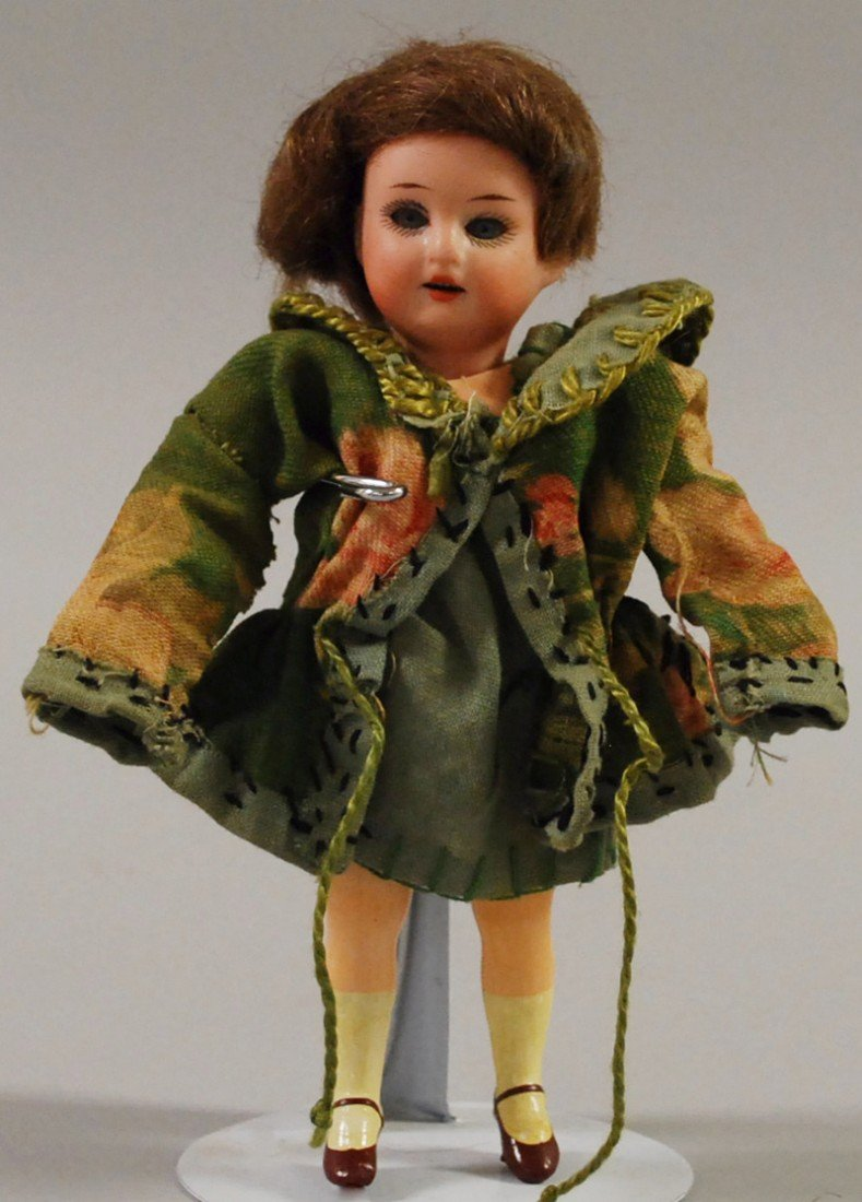 8: Miniature AM Bisque and Composition Doll, five-piece