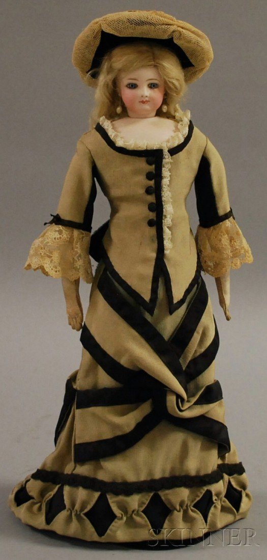 9: French Fashion with Swivel Bisque Head, c. 1880, imp