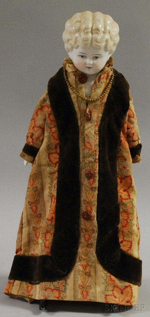 """17: Blonde China Head Doll """"Ethel"""", 1870s, ht. 20 in."""