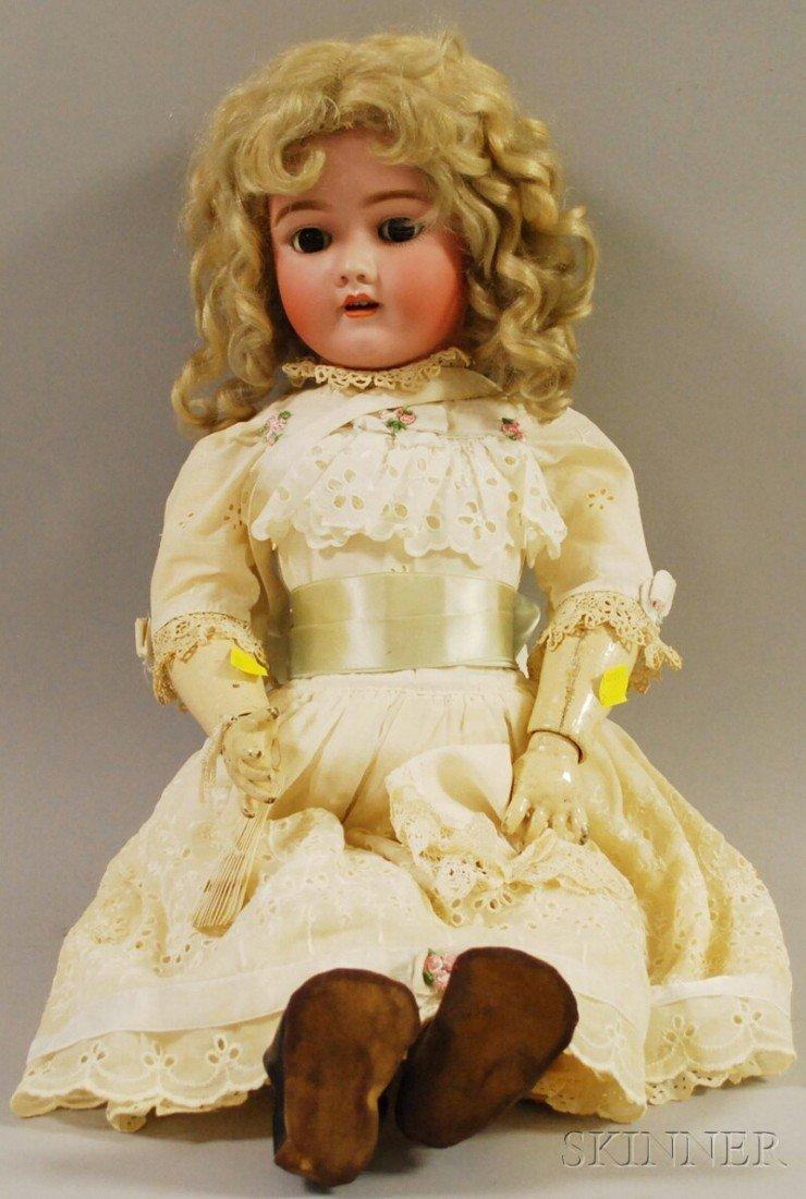 21: Handwerck German Bisque Head Doll, Germany, 69-12X,