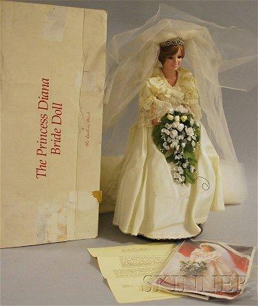 151 Danbury Mint Princess Diana Bride Doll In Original Oct 12 2011 Skinner In Ma